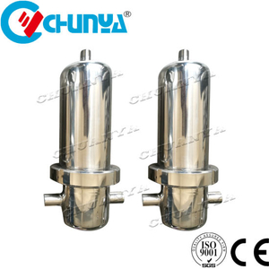Wholesale 304 316 Stainless Steel Gas Air Filter Housing for Water Purifier Treatment Machine