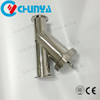 Industrial Valve Strainer Sanitary Y-Type Stainless Steel Water Filter Housing