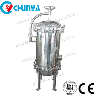 "China Stainless Steel SS304 316L Precision Liquid Beer Wine Milk 10"" 30inch PP PTFE Multi Cartridge Water Filter Housing"