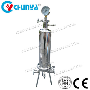 Stainless Steel Single Cartridge Filter Housing for Juice and Drink