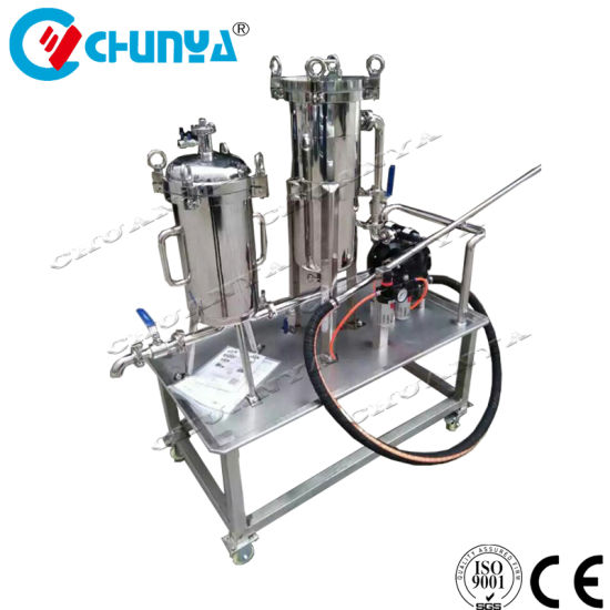 RO Stainless Steel Movable Bag Filter Housing with Water Pump